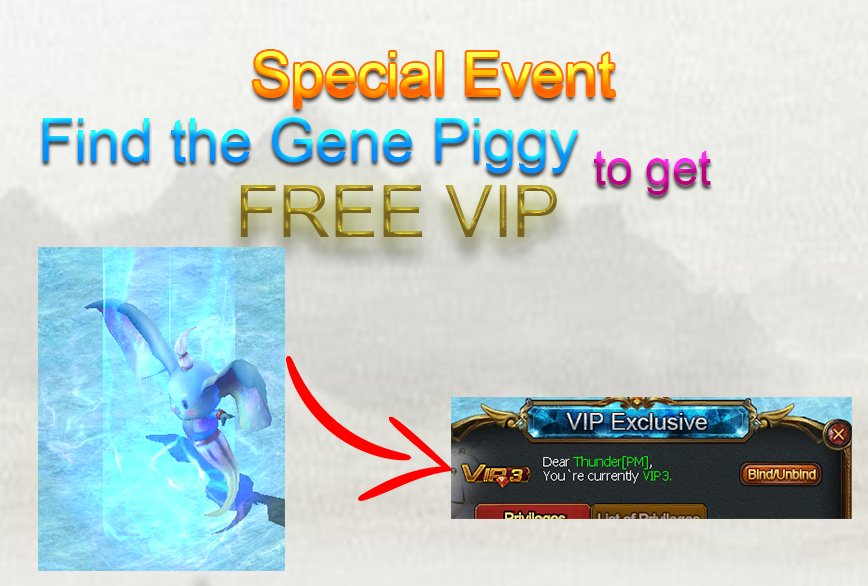 FREE VIP upgrade event
